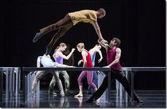 """Jesse Bechard and Kevin J. Shannon star in """"One Flat Thing,"""" part of Hubbard Street Dance's """"Fall Series"""" featuring works by choreographer William Forsythe. (photo credit: Todd Rosenberg)"""