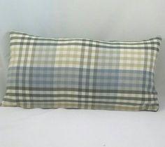 Plaid lumbar Cushion Cover. Fits a 12x18 pillow