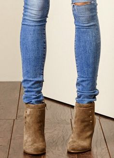 Skinny Jeans Ankle Boots Fashion For Linda