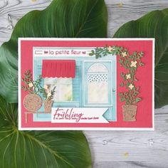 """La petite fleur Hallo ihr Lieben, ihr habt sie bestimmt schon ausführlich beschnuppert, die neue Serie """"My little shop"""". Heute zeige ich euch meine erste Karte damit. Ich liiiiiebe Blumen und bin regelmäßiger Stammkunde im Blumenladen. ...weiter gehts auf dem Blog ;o) #charlieundpaulchen #scrapbooking #happy #instagood #cardmaking #diycards #cardmakingideas #paperlove #cardsofinstagram #cardmaking #handmade #paperaddict @Kreativelch Cover, Blog, Flowers, Creative, Blogging"""