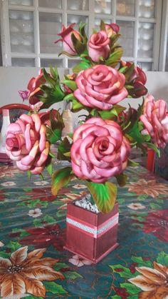 Rosas con tono envejecido.