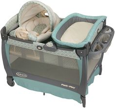 Graco Pack N Play... with bassinet. Brody was so small, the bassinet was even too big for him.  But we were able to make it so we could all get some sleep!