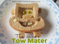 Tow Mater sandwich.. so cute!