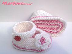 Вязание & Häkelschuhe - детская обувь для крещения - один дизайн кусок Markimo на DaWanda