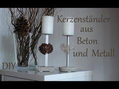 DIY | Kerzenständer aus Beton und Metall | Muttertagsgeschenk | Just Deko - YouTube
