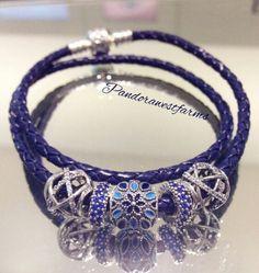 ♥ pretty bracelet PANDORA BLUE bijoux et charms à retrouver sur www.bijoux-et-charms.fr