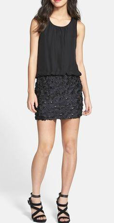 Textured Blouson Dress  <3