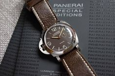 #panerai #watches lefty brown dial