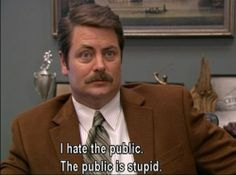 I love you Ron Swanson