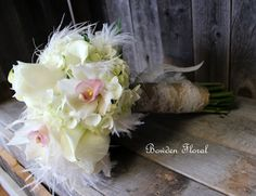 lace burlap white flowers | the rest of the wedding flowers were vibrant summer colors