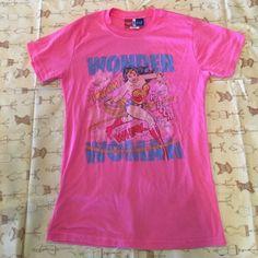 Junk food vintage Wonder Woman tee Pink junk food tee vintage Wonder Woman tee. Kids xl/women's small Tops Tees - Short Sleeve