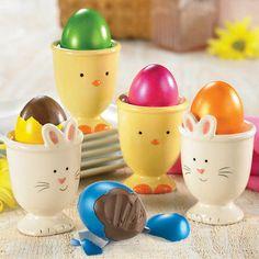 Ceramic Cups & Eggs-quisite Chocolate Truffle Eggs
