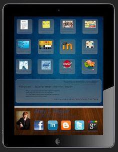 Free reusable #prezi template of an iPad rendering of a professional resume (prezume)