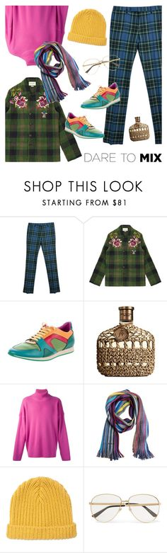 """""""Men's Fashion: Vintage Florals Dare To Mix!"""" by sproetje ❤ liked on Polyvore featuring Burberry, Gucci, John Varvatos, AMI, Paul Smith, Marni, vintage, men's fashion, menswear and glasses"""