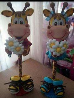 Foam Crafts, Diy And Crafts, Crafts For Kids, Arts And Crafts, Giraffe Crafts, Animal Crafts, Pencil Toppers, Cute Clay, Miniature Crafts