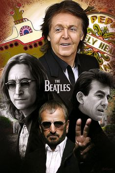 """The Fab Four from Liverpool, England """"The Beatles"""" put Great Britain on the world map in the Forever in my heart John, Paul George and Ringo you made the Sixties. Foto Beatles, Beatles Love, Les Beatles, Beatles Art, Beatles Photos, Beatles Lyrics, Beatles Guitar, Ringo Starr, John Lennon"""
