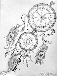 Dreamcatcher tattoo made by YannMichael - Clandli Atrapasueños Tattoo, Tattoo Bein, Tattoo Drawings, Body Art Tattoos, Sleeve Tattoos, Cool Tattoos, Tatoos, Dream Catcher Drawing, Dream Catcher Tattoo Design