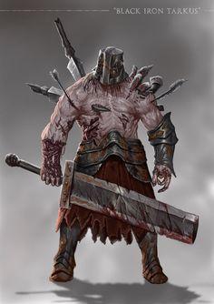 Grimdark Souls - Black Iron Tarkus by SaneKyle on DeviantArt Dark Fantasy Art, Fantasy Rpg, Medieval Fantasy, Fantasy Character Design, Character Art, Ornstein Dark Souls, Dark Souls Art, Vampire, Soul Art