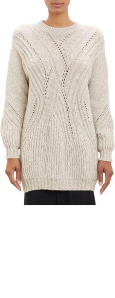 Thakoon Multi-Stitch Oversize Pullover Sweater
