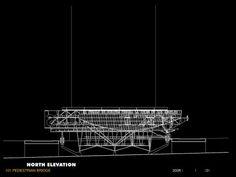 101 Pedestrian Bridge - Elevation NN | Morphopedia | Morphosis Architects