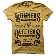 Winners Never Quit Gold gold, arquebus clothing, arquebus