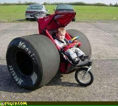 Drag Racing Baby Stroller, Vvrroooomm...