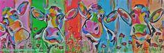 Veelzijdig  kleurrijk kunstenares Mir/ Mirthe Kolkman  waaronder koeienschilderes. Koe kleurrijke koe koeienkunst kleurrijk kunstwerk koe in de wei hollandse koe gezellige vrolijke koe koeienkop cows from holland cowpainting koeienschilderij koeien schilderen dierenschilderij kunst art