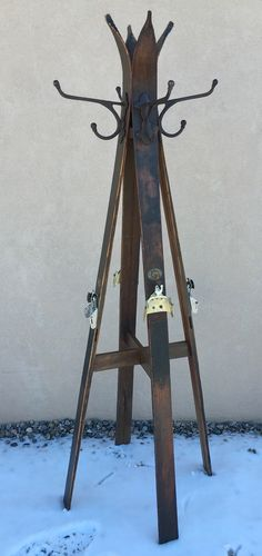Coat Rack! #antiqueskicoatrack #skilodgedecor #mountaindecor