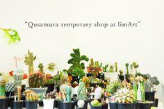 """展覧会・販売 東京 – 恵比寿  EXHIBITION Tokyo – Ebisu    """"Qusamura temporary shop at limArt""""        期間:2012年5月22日(火)- 6月27日(水)   時間:12時~20時 ※月曜休  会場:limArt(リムアート)東京都渋谷区恵比寿南2-10-3 1F  Tel:03-3713-8670  URL : www.limart.net"""