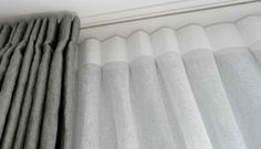 ripple fold curtain track uk - Google Search Ceiling Mounted Curtain Track, Ceiling Curtains, Curtain Rails, Recessed Ceiling, Drapery Panels, Pinch Pleat Curtains, Double Curtains, Pleated Curtains, Curtains With Blinds