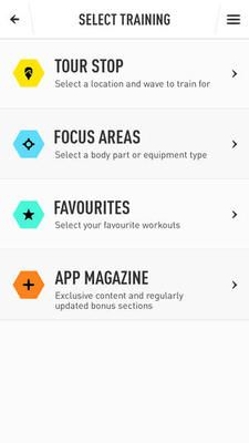 icons onJoel Parkinson Pro Surf Training #UI #design #digital