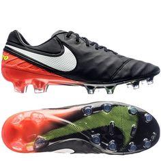 b2fe0edd20e Nike Men s Tiempo Legend VI 6 FG Black -Hyper Orange Soccer Cleats 819177-  · Soccer BootsMens Soccer CleatsFootball ...