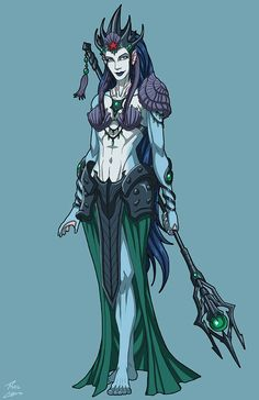 Amphitrite (NeOlympus) commission by phil-cho on DeviantArt Fantasy Races, Fantasy Warrior, Fantasy Rpg, Superhero Characters, Fantasy Characters, Female Characters, Marvel Dc, Marvel Heroes, Character Concept