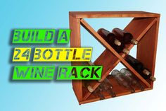 Build a wine rack for up to 24 bottles. Free video & plans! I would totally used this to store my yarn