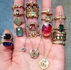 Boho Jewelry, Jewelry Rings, Jewelry Box, Jewelry Accessories, Fashion Accessories, Fashion Jewelry, Jewelry Design, Jewlery, Bohemian Rings