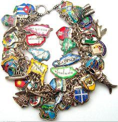 Caribbean Travel Shield Charm Bracelet - New