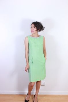 1960s Mod Green Cocktail Dress by VintageRevival818 on Etsy