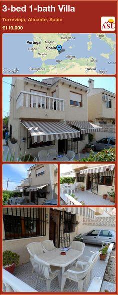 3-bed 1-bath Villa in Torrevieja, Alicante, Spain ►€110,000 #PropertyForSaleInSpain