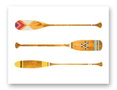 Canoe Paddle Art - Cottage Chic Decor - Lake Cottage Decor - Rustic Cottage Designs - Outdoor Lovers Gift - Camping Decor - Gift for Dad