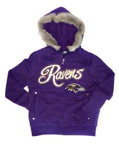 Baltimore Ravens Women's Highlight Full Zip Jacket - White/Neon Green