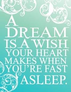 Cinderella  bedroom poster... dream is a wish your heart makes when youre fast asleep.. pick your color... digital file❤️