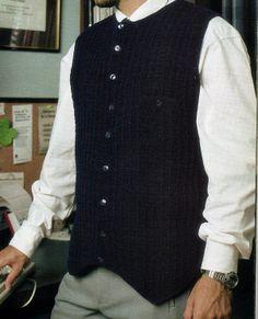 Chaleco a crochet para hombres.
