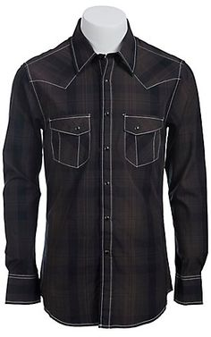 Rock & Roll Cowboy Men's L/S Western Snap Shirt B2S5119 | Cavender's