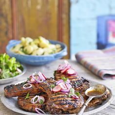 Try our Mexican pork chop recipe in lime and ancho marinade. Dried poblano ancho chilli adds sweet earthy flavour to Mexican pork chops from Thomasina Miers Pork Chop Rub, Pork Chop Marinade, Marinated Pork Chops, Chef Recipes, Mexican Food Recipes, Dinner Recipes, Mexican Pork Chops, Chops Recipe, Pork Chop Recipes