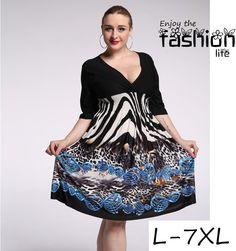 Cheap plus size animal print dresses
