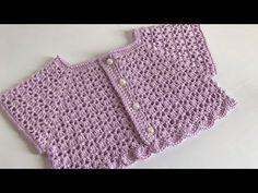 Crochet Baby Dress Free Pattern, Crochet Yoke, Crochet Baby Cardigan, Crochet Girls, Crochet For Kids, Crochet Patterns, Pull Bebe, Diy Crafts Crochet, Crochet For Beginners Blanket