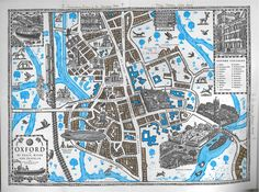 "A Map of Lyra's Oxford, from Philip Pullman's ""His Dark Materials"" series"