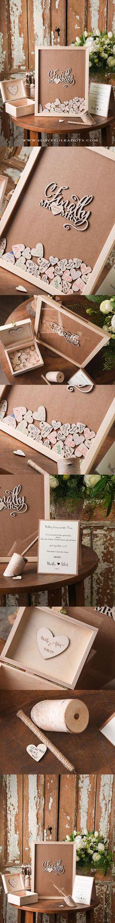 Finally Mr & Mrs ! Alternative Wedding Guest Book Frame  ||  4lovepokladots