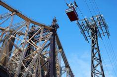 Photo du pont de Queensboro Bridge et du Roosevelt Island Tramway
