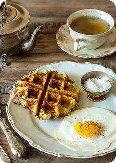 Bauernfrühstück aus dem Waffeleisen